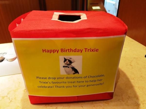8チョコレート寄付箱