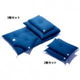 3枚セットはゴロ寝布団としても秀逸。