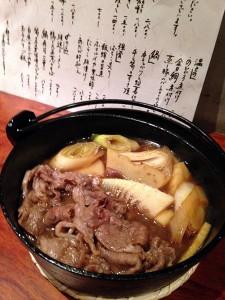 01_牛と筍のすき焼き