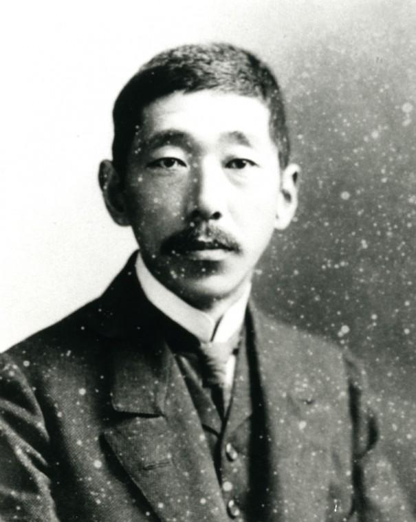 寺田寅彦(1878~1935)。物理学者として地球物理学の分野で多大な研究成果を挙げた。漱石の『吾輩は猫である』に登場する寒月君のモデルともなった。高知県立文学館蔵