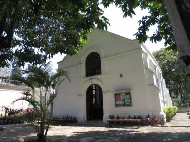 プロテスタント墓地のなかに建てられたモリソン礼拝堂。