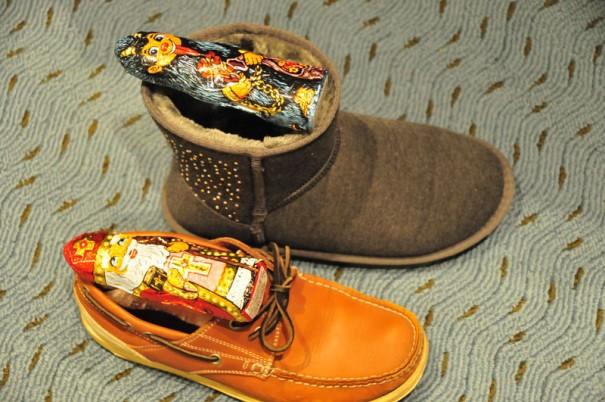 靴にプレゼント