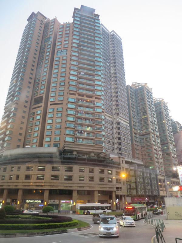 マカオの高層ビル街。