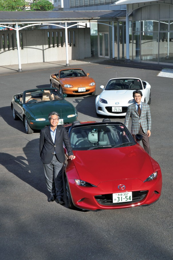 2人乗りの小型スポーツカーという市場を開拓、以後、技術やデザインにおいて継承・革新・改良を繰り返してきたロードスター。