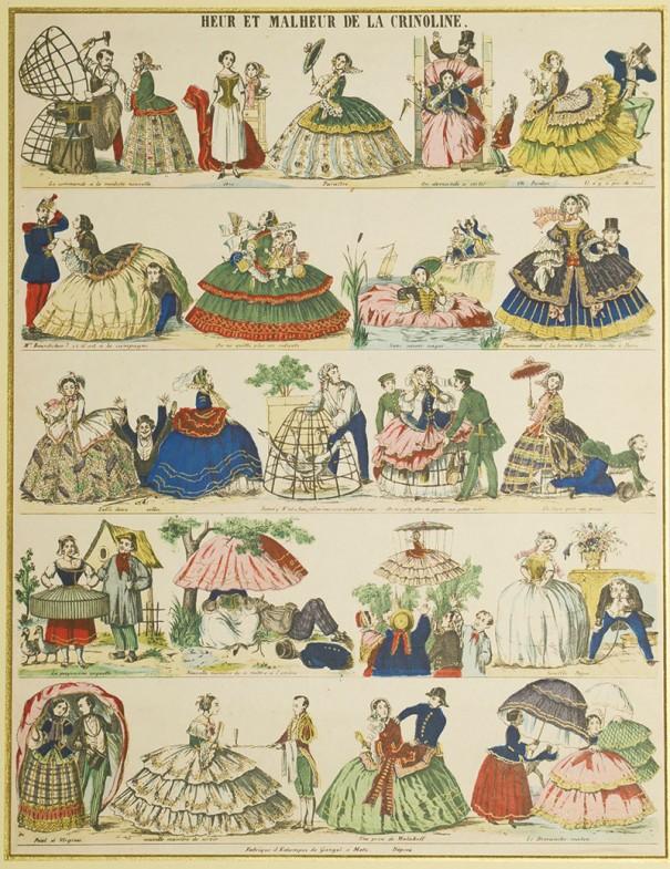 『クリノリンの幸不幸』(第3章より)[1858年頃 パリ]