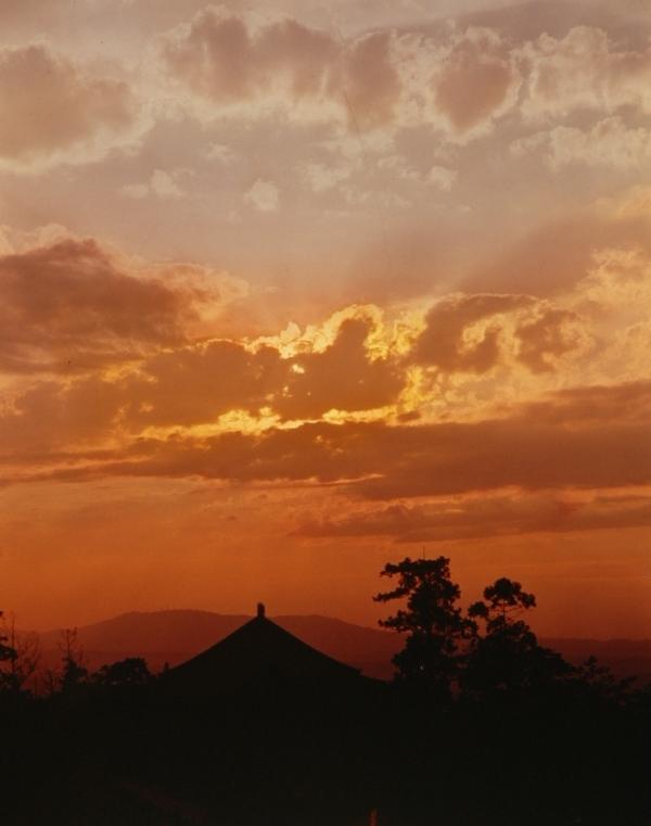 2度も焼け落ちた東大寺大仏殿。いまの大仏は元禄5年(1692)に再造された。