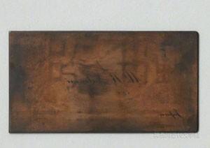 漱石がロンドンで作った「K.Natsume 」の名刺原板。漱石のロンドン暮らしの一端をしのばせる。写真/県立神奈川近代文学館所蔵