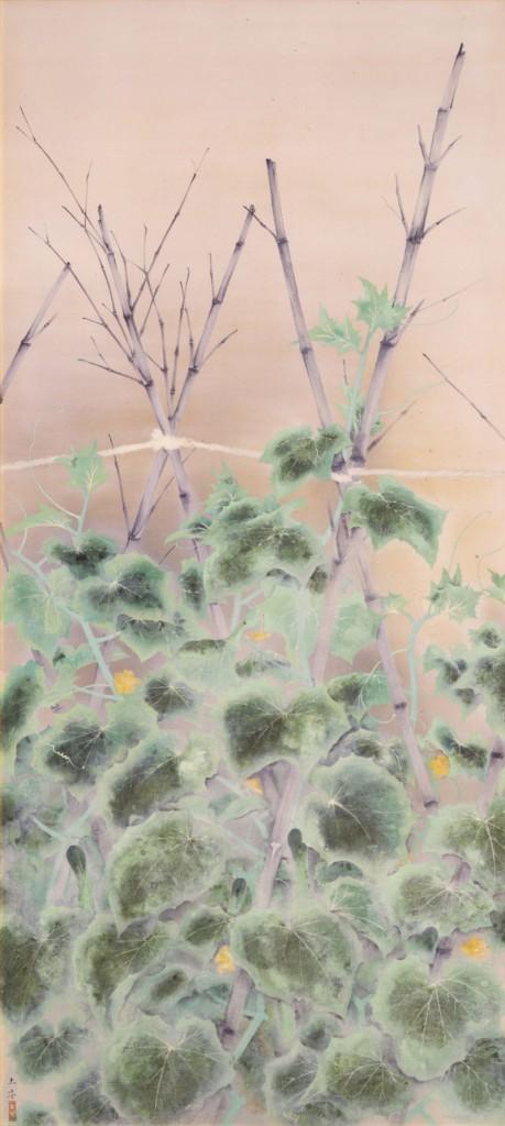 奥村土牛《胡瓜畑》〔1927(昭和2)年 絹本・彩色 東京国立近代美術館所蔵〕3月19日~4月17日展示。