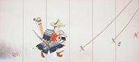 安田靫彦《黄瀬川陣(左隻)》〔重要文化財 1940-41年 東京国立近代美術館所蔵〕全期間展示
