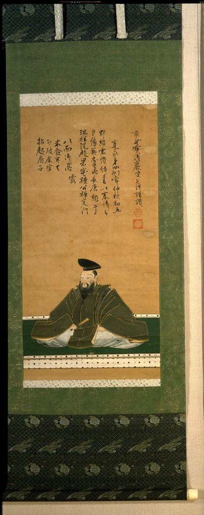 豊かな髭がトレードマークだった津軽為信(革秀寺蔵)。