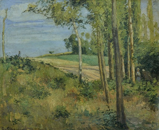 カミーユ・ピサロ《マトゥランの丘にて、ポントワーズ》〔1874年 油彩・キャンヴァス 個人蔵〕Collection Privée