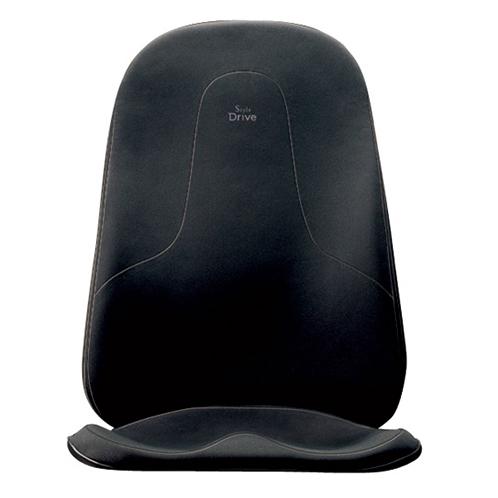体圧分散により、背中や腰の負担を軽減。スポーツシートなどの両脇が大きく盛り上がったシートには非対応。