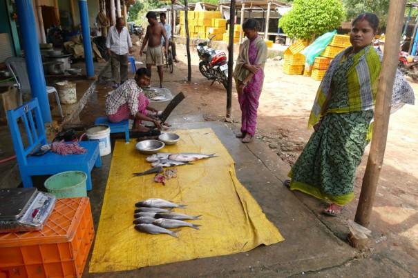 Nさん曰くプリで最大級の魚市場だとか。