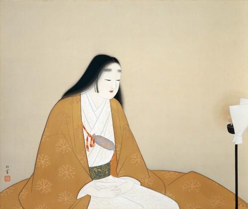 上村松園《楠公夫人》〔昭和19(1944)年 足立美術館蔵〕