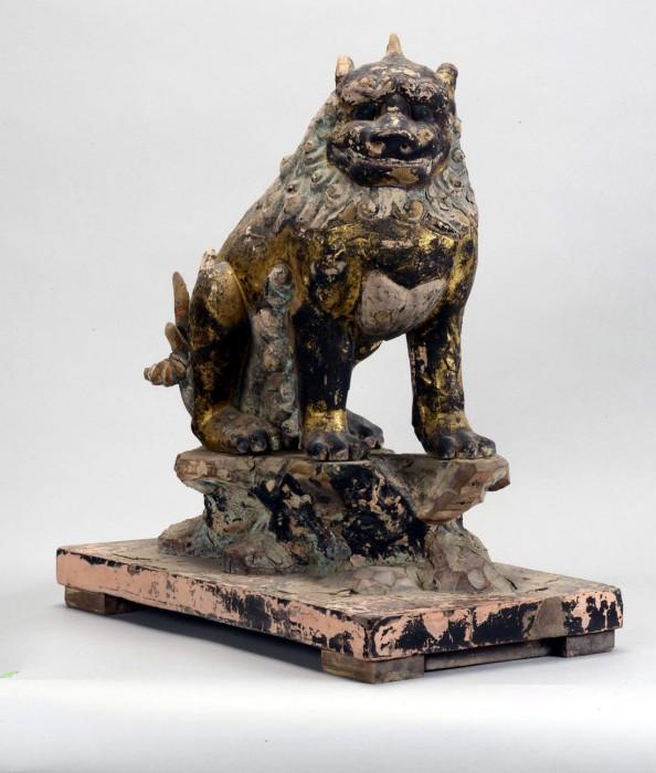「第一殿 狛犬」〔鎌倉時代、春日大社蔵〕