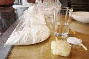 )「マッシュポテトのフォカッチャ」の材料。これに、起こした天然酵母、オリーブオイルなどの調味料も加わります。