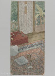 漱石自筆の「書斎図」(1913年夏)。東京・早稲田南町の自宅書斎を描いたもの。漱石はこの書斎で幾つもの季節の流れを味わった。神奈川近代文学館所蔵