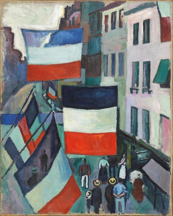 ラウル・デュフィ《旗で飾られた通り》〔1906年〕Photo:ⒸGeorges Meguerditchian-Centre Pompidou,MNAM-CCI