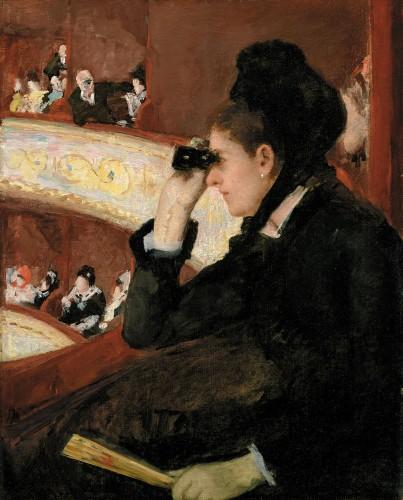 メアリー・カサット《桟敷席にて》〔1878年 油彩・カンヴァス ボストン美術館蔵〕The Hayden Collection-Charles Henry Hayden Fund,10.35.PhotographyⒸ2015 Museum of Fine Arts,Boston