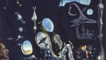 サルバドール・ダリ《ウラニウムと原子による憂鬱な牧歌》〔1945年 カンヴァスに油彩  国立ソフィア王妃芸術センター蔵〕Collection of the Museo Nacional Centro Arte Reina Sofia,MadridⒸSalvador Dalí,Fundació Gala-Salvador Dalí、JASPAR,Japan,2016