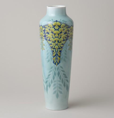 「上絵花文花瓶」セーヴル 1901年 (有)セレスト蔵
