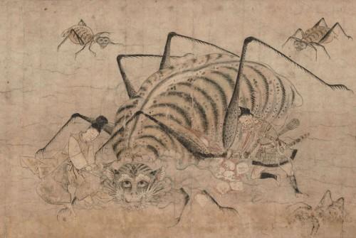重要文化財「土蜘蛛草紙絵巻」(部分) 南北朝時代(14世紀)東京国立博物館蔵 Image:TNM Image Archives ※前期(7月5日~31日)展示