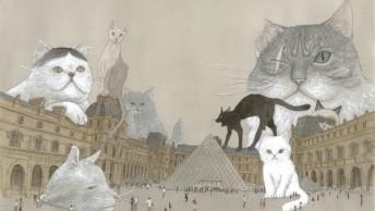 松本大洋/『ルーヴルの猫』ⒸMATSUMOTO Taiyo/shogakukan/Futuropolis/ Musée du Louvre éditions