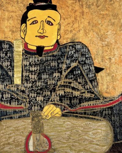 片岡球子《面構 足利尊氏》〔1966年 紙本着彩 神奈川県立近代美術館蔵〕