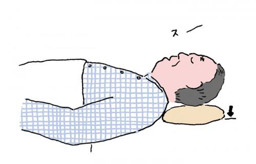 枕を低くしてみる