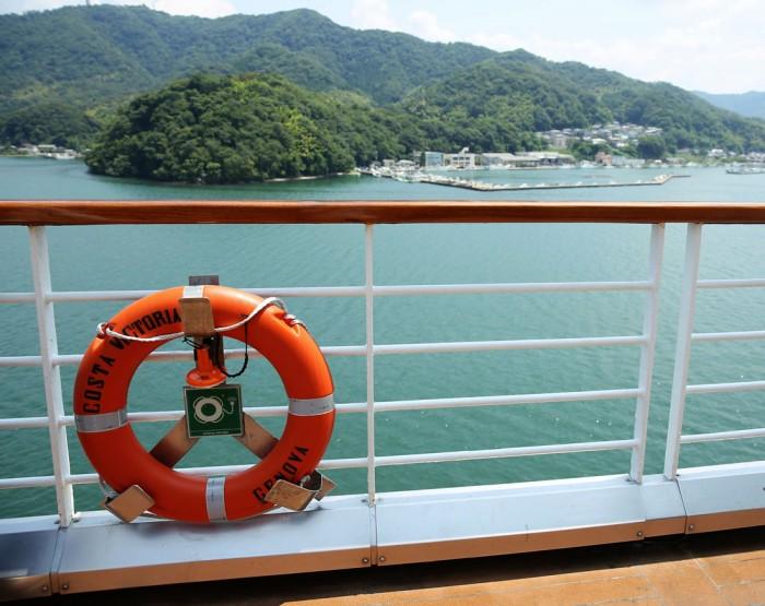 船上より望む景色。