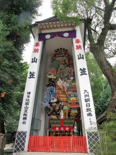 櫛田神社の飾り山笠。