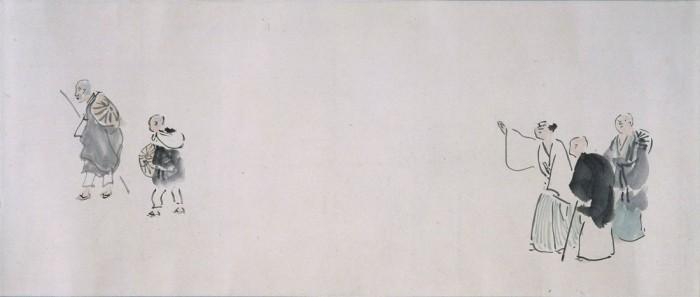与謝蕪村筆《奥の細道図巻(上巻部分)》〔重要文化財 京都国立博物館蔵〕