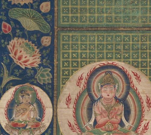 重要文化財 愛染曼荼羅(部分) 鎌倉時代 13世紀 根津美術館蔵