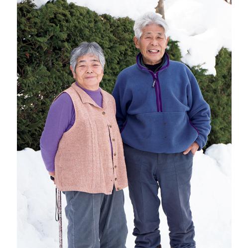 髙橋明義さんと、明義さんも一目置く配色感覚を持つ奥さんの瑞枝さん。