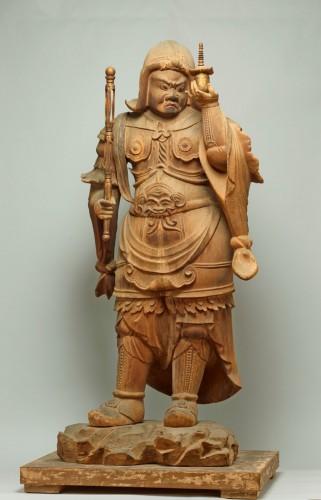 重要文化財「毘沙門天立像」 平安時代・10~11世紀 滋賀・櫟野寺蔵