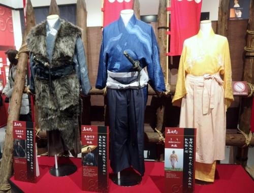 「真田丸」の出演者たちの衣装を展示。