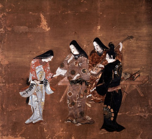 「本多平八郎姿絵屏風」(部分)〔江戸時代・17世紀 徳川美術館蔵〕