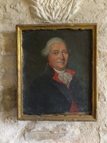 サド侯爵の肖像画。