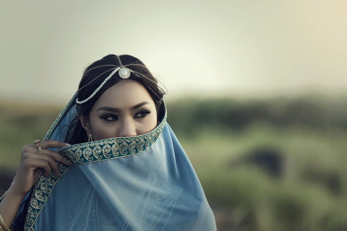 Persian women portrait traditional dress
