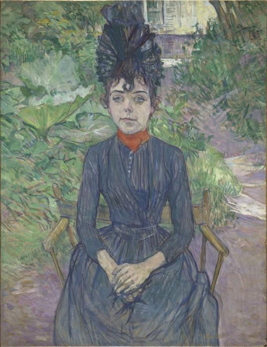 トゥールーズ=ロートレック《庭に座る女》〔1891年 オルセー美術館蔵〕©RMN-Grand Palais (musée d'Orsay) / Hervé Lewandowski / distributed by AMF