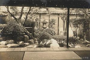 漱石と子規の、松山における同居生活の拠点となった愚陀仏庵の庭。写真/神奈川近代文学館所蔵