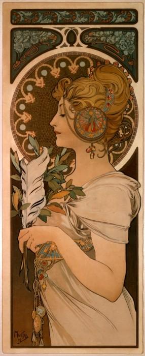 アルフォンス・ミュシャ《羽根》〔1899年〕