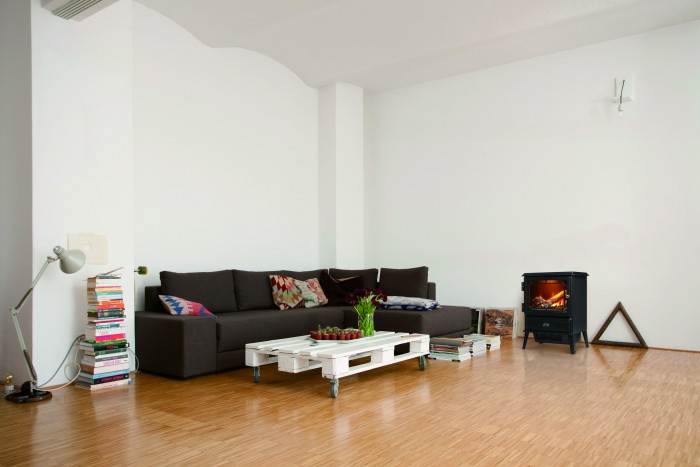 Interior of spacious living room
