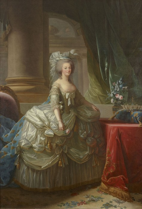 エリザベト=ルイーズ・ヴィジェ・ル・ブランと工房《フランス王妃マリー・アントワネット》〔1785年 ヴェルサイユ宮殿美術館蔵〕(C)Château de Versailles(Dist.RMN-GP)/(C)Christophe Fouin