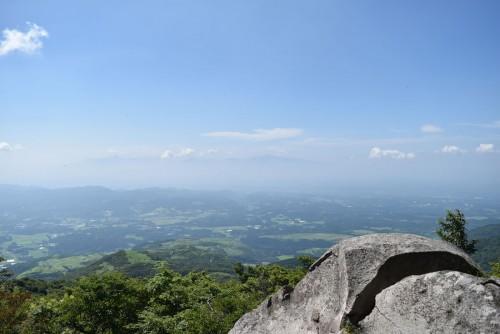 入山公廟から望む雄大なパノラマ。岡城も眼下に望むことができます。