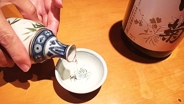 奥能登の白菊・燗酒。
