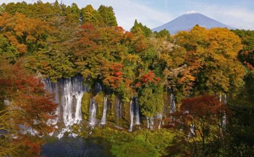 錦秋、白糸の滝