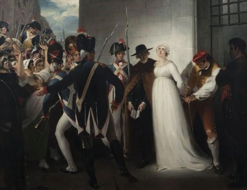 ウィリアム・ハミルトン《死刑に処されるマリー・アントワネット 1773年10月16日》〔1794年 ヴィジル・フランス革命美術館蔵〕(C)Coll. Musée de la Révolution française/Domain de Vizille