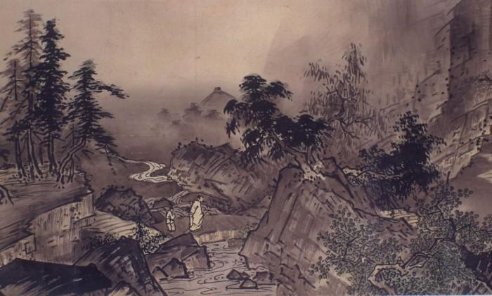 雪舟「四季山水図(山水長巻)」 文明18年(1486) 毛利博物館