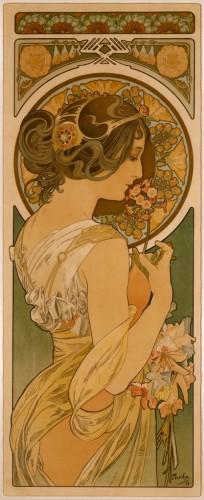 アルフォンス・ミュシャ《桜草》〔1899年〕
